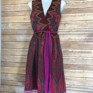 Anna Sui for Anthropologie silk wrap dress